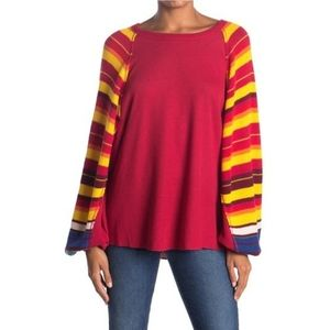 We the Free Rainbow Dreams Batwing Knit Sweater